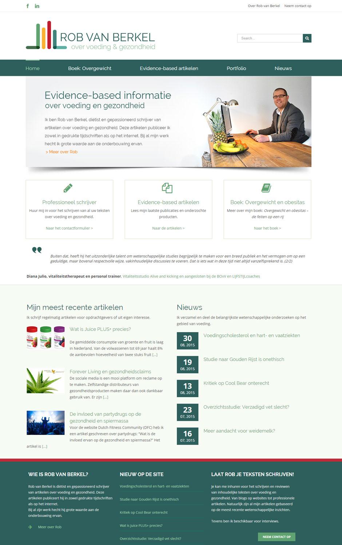 Voorbeeld van een dietistenwebsite